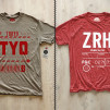 Cities T-Shirts by Pilot and Captain Tokyo-TYO and Zurich-ZRH