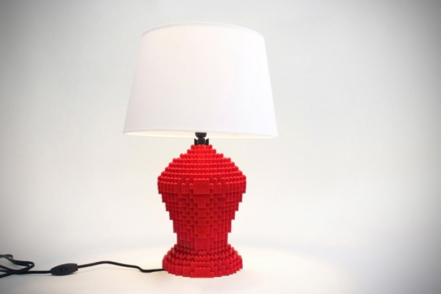 LEGO Table Lamps by Sean Kenney - Lexington Red