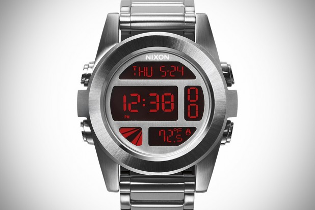 Nixon The Unit SS Watch Silver-Red