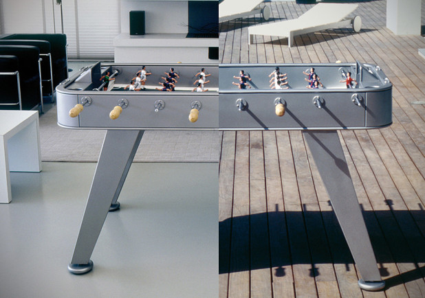 RS-2 Foosball Table by RS Barcelona Stainless Steel Finish