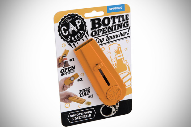 Cap Zappa: Bottle Opening Cap Launcher