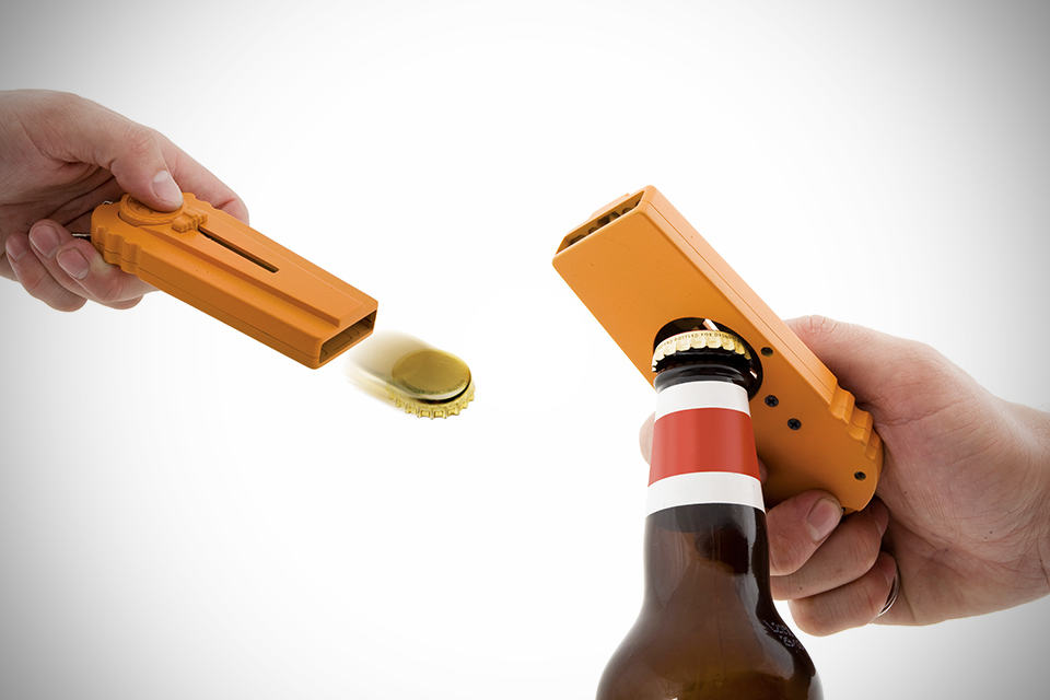Cap Zappa: Bottle Opening Cap Launcher