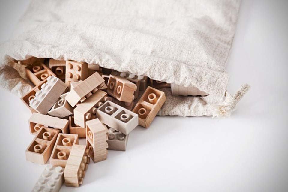 Mokurokku Wooden LEGO Bricks