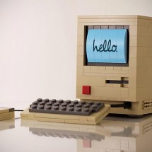 Original Mac crafted from LEGO Bricks