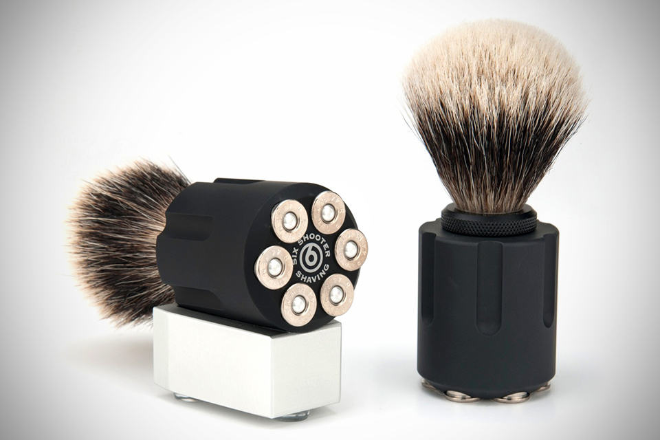 Six Shooter Revolver Shave Brushes - Tactical