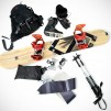 Splitsticks - snowboard and hike skis