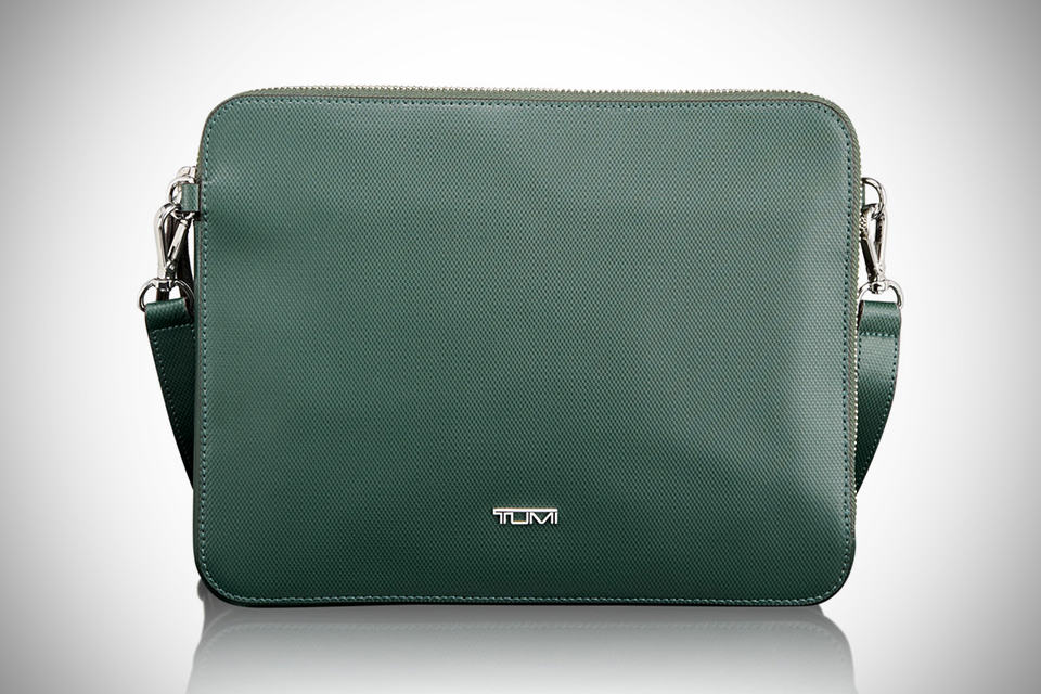 TUMI Slim Zip Top Crossbody iPad Bag