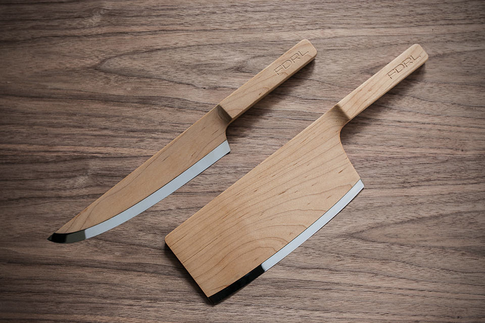 The Federal Maple Set Knives