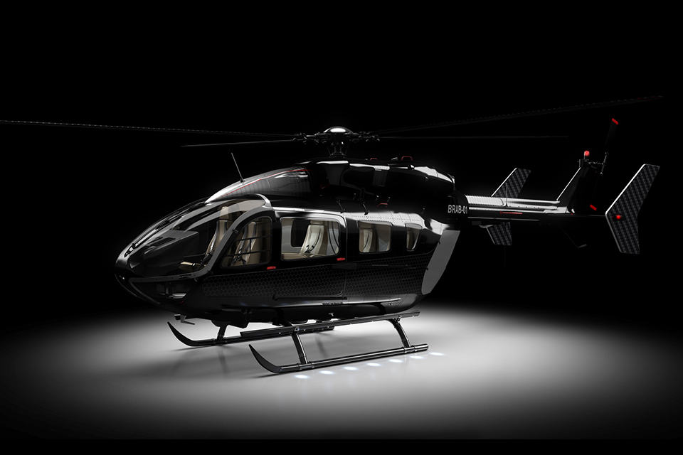 Eurocopter EC145 BRABUS Limited Edition Livery Black quarter Left Studio