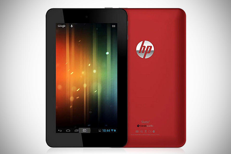 HP Slate 7 Android Tablet with Beats Audio - Red