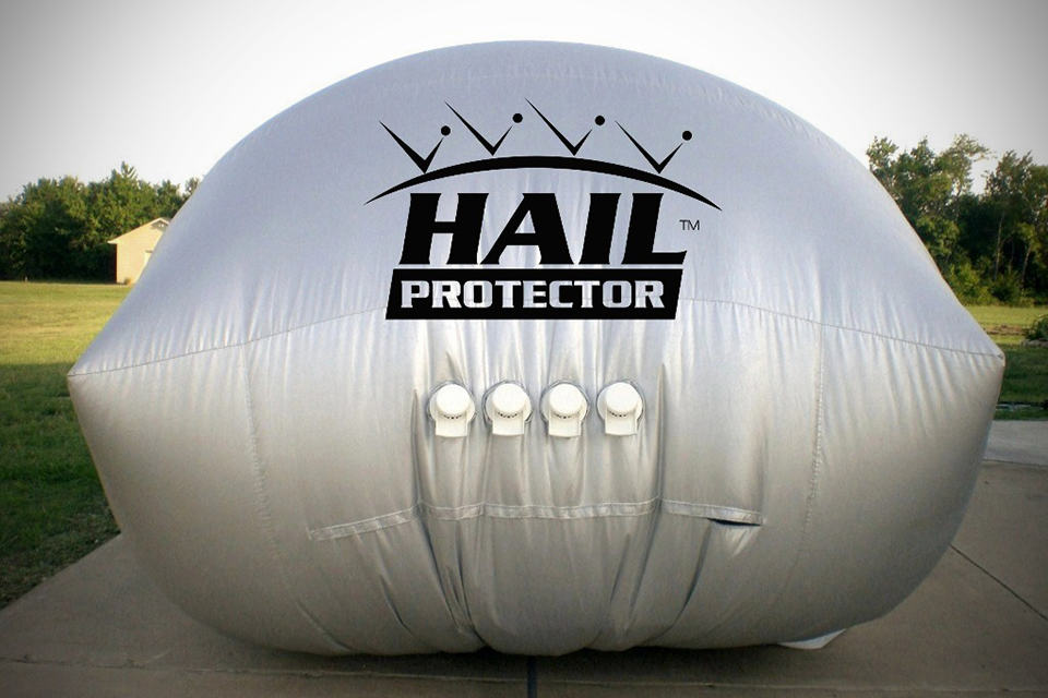 Hail Protector Automobile Hail Protection System - inflated rear