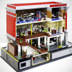 LEGO Ghostbusters Headquarters by Orion Pax - back angle cutaway