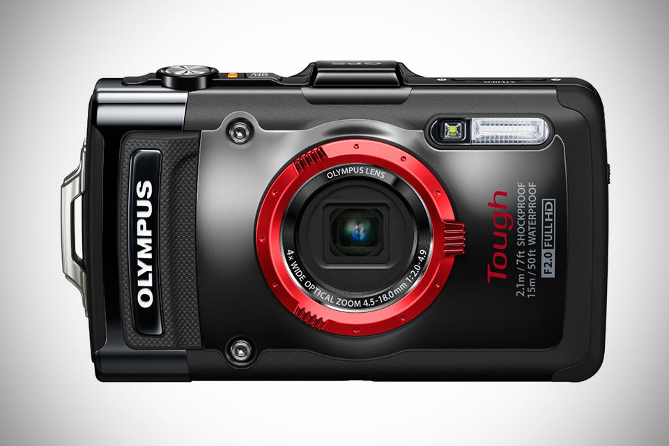 Olympus STYLUS Tough TG-2 iHS Digital Camera - Black - Front