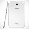 Samsung GALAXY Note 8.0 Tablet - White Back and Right Profile