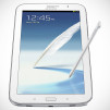 Samsung GALAXY Note 8.0 Tablet - White Front Angled with S-Pen