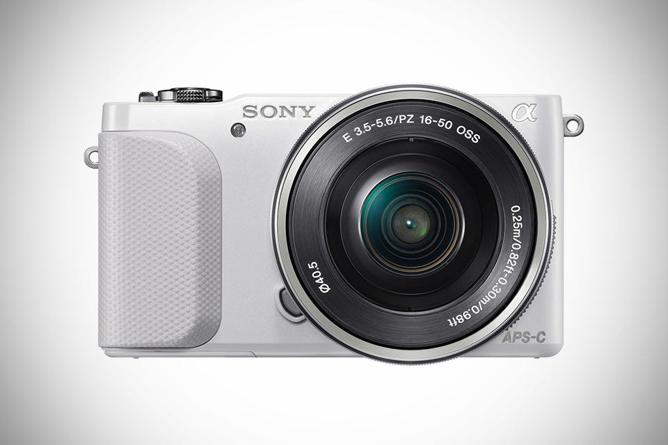 Sony NEX-3N Mirrorless Digital Camera - White Front