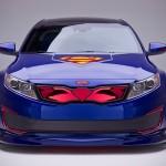 Superman KIA Optima Hybrid Sedan