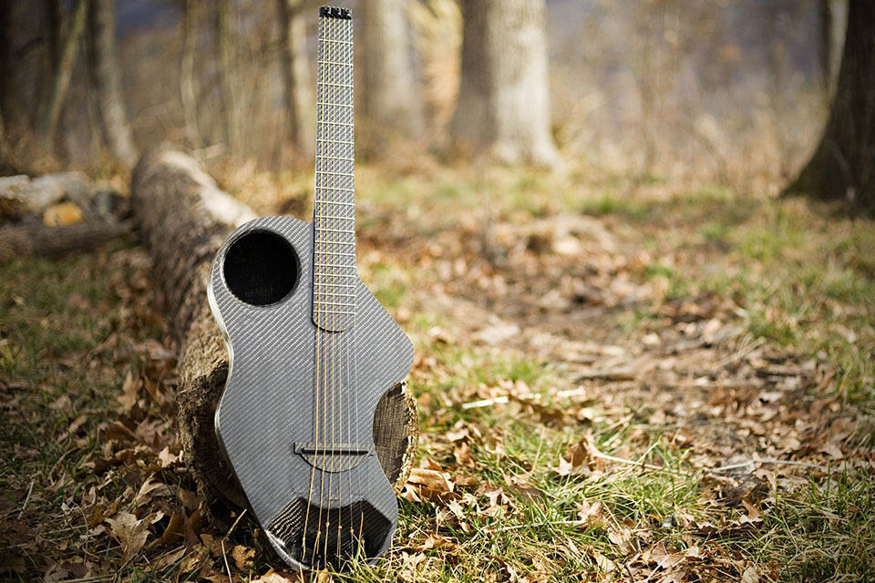 Alpaca Carbon Fiber Travel Guitar - in the woods