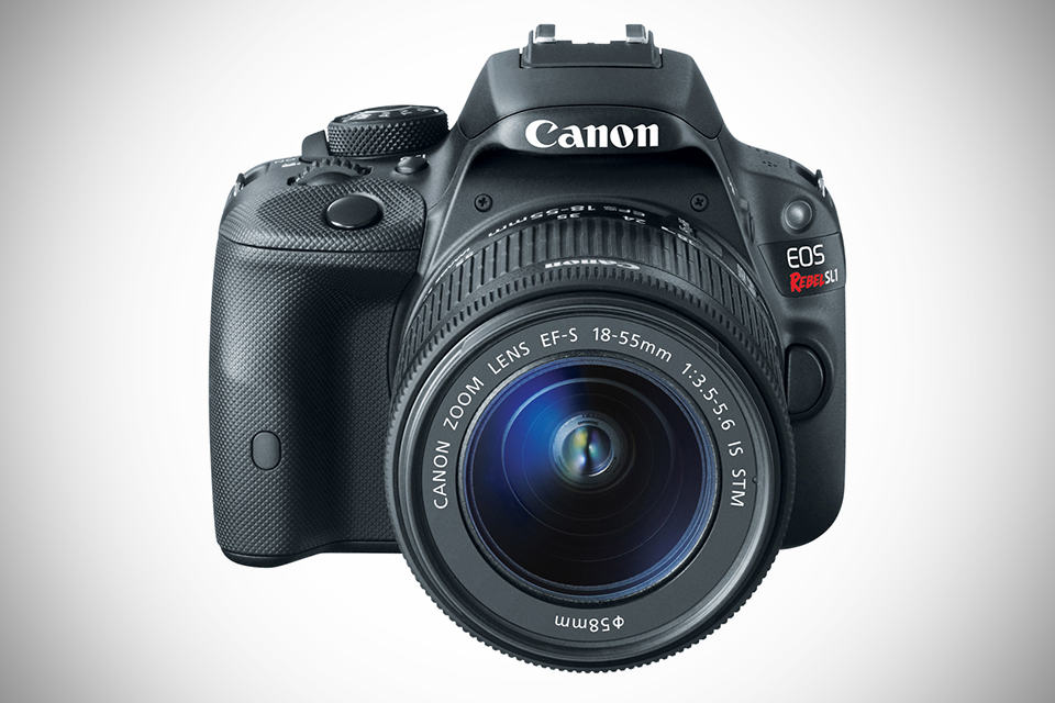 Canon EOS Rebel SL1 Digital SLR Camera - Front-angled with Lens
