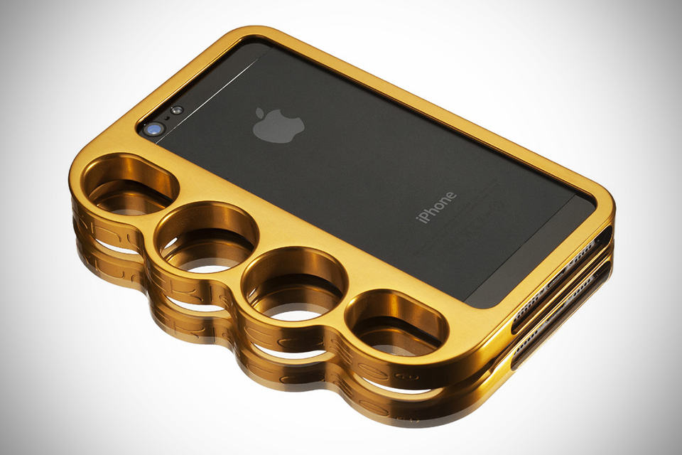 Knucklecase: The Original Patented Knucklecase for iPhone 5 - Polished Gold