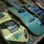 Skate Guitar – Used Skateboard Repurposed into Electric Axe
