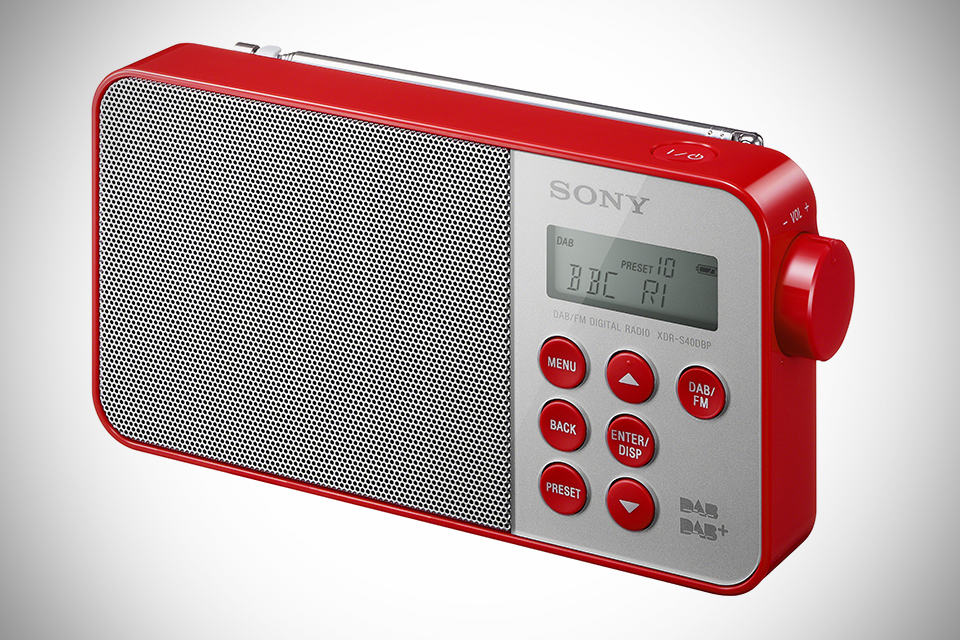 Sony XDR-S40DBP Digital Radio - Red