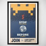 Space Invaders Propaganda Print [Poster]
