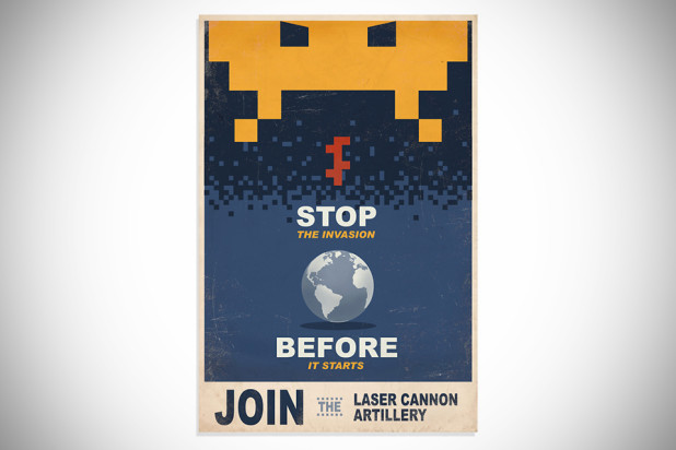 Space Invaders Propaganda Print Poster - Unframed