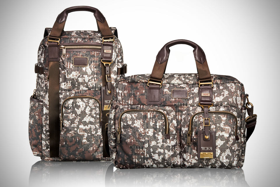 TUMI Camo Print Alpha Bravo Backpack and Tote