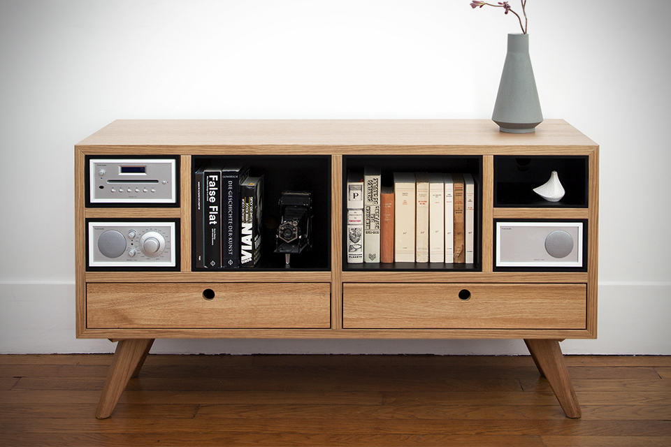 The Hansen Family x Tivoli Audio Furniture Collection - Remix Sound Sideboard Front