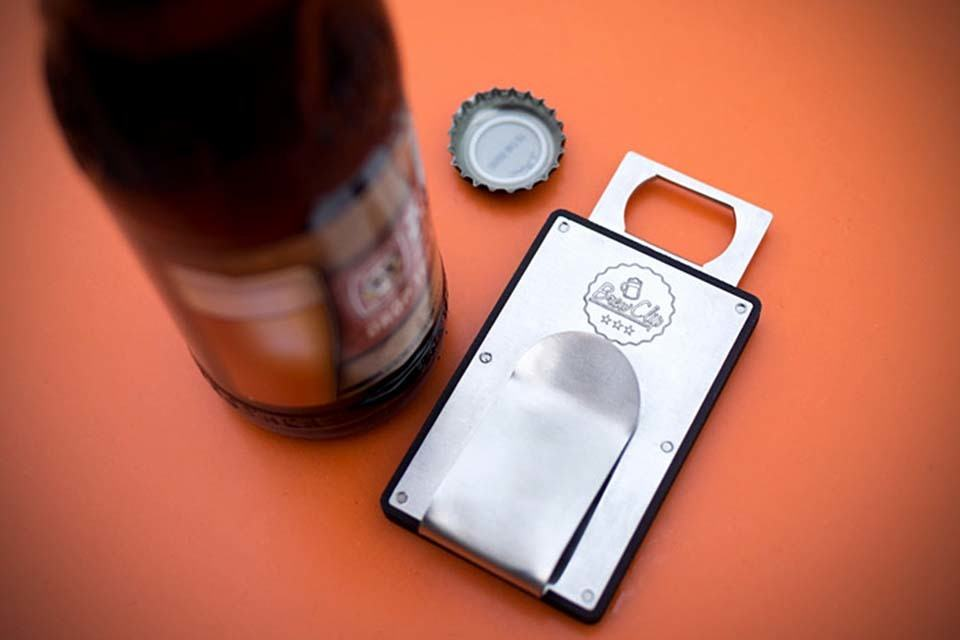Brew Clip - a Wallet and a Bottle Opener