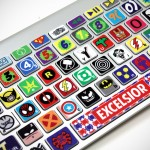 Comic Keyboard Stickers for MacBook