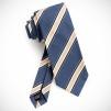 Dunhill Provenance Seven Fold Neckties - Indigo with Stripes