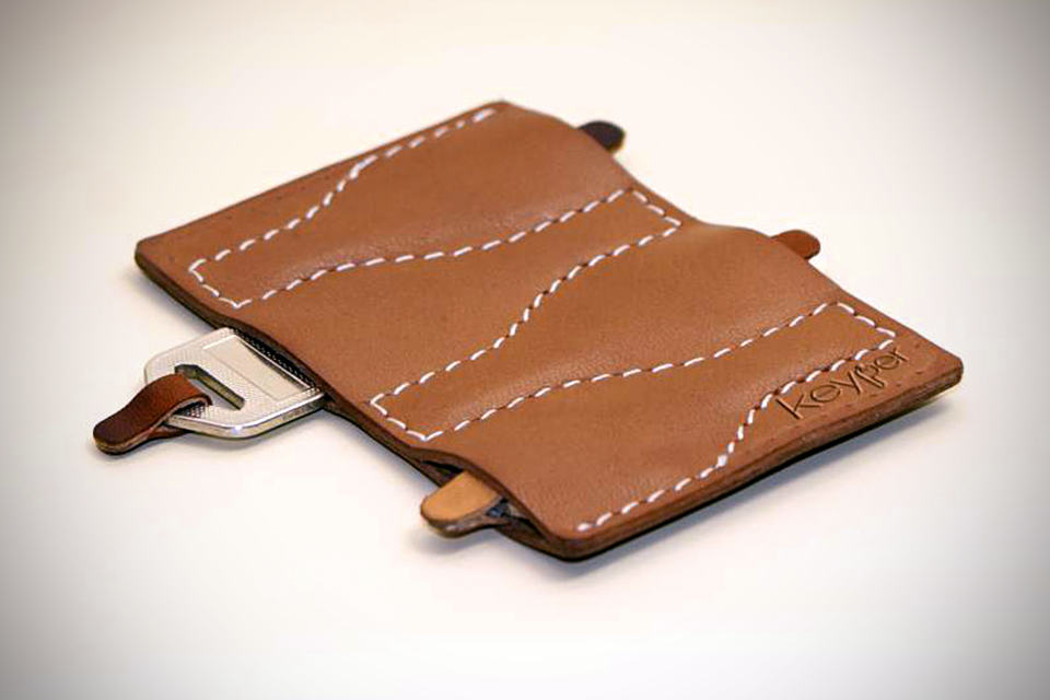 Keyper - Slim Leather Key Organizer