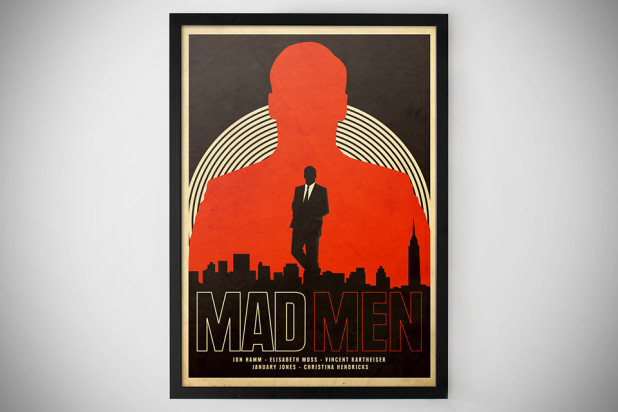 Mad Men Print by Needle Design [Poster] - Framed