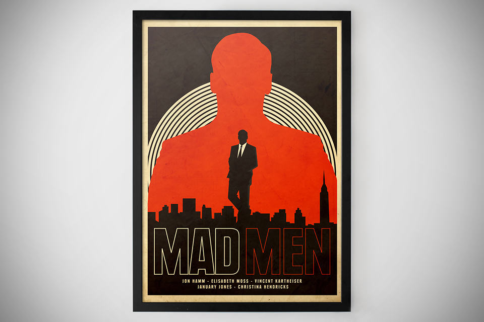 mad men print by needle design poster mikeshouts