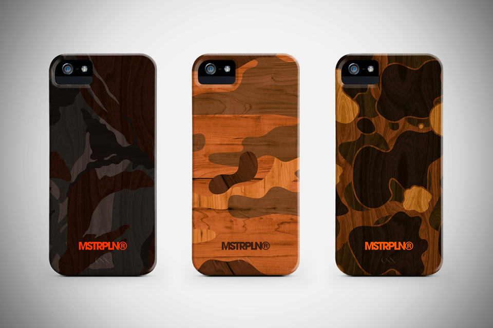 Modern Woodgrain Camouflage iPhone Cases