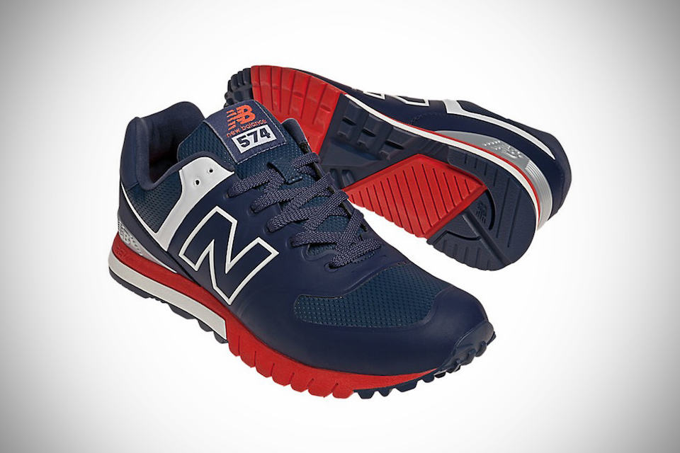 new balance 574 navy red