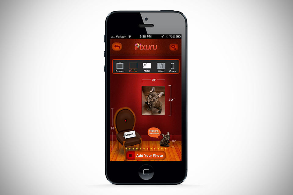 Pixuru Photo-To-Canvas iPhone App