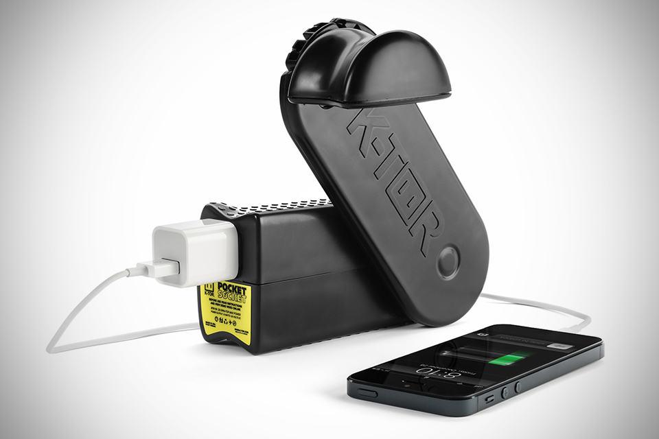 K-TOR Pocket Socket 2 Hand Crank Generator