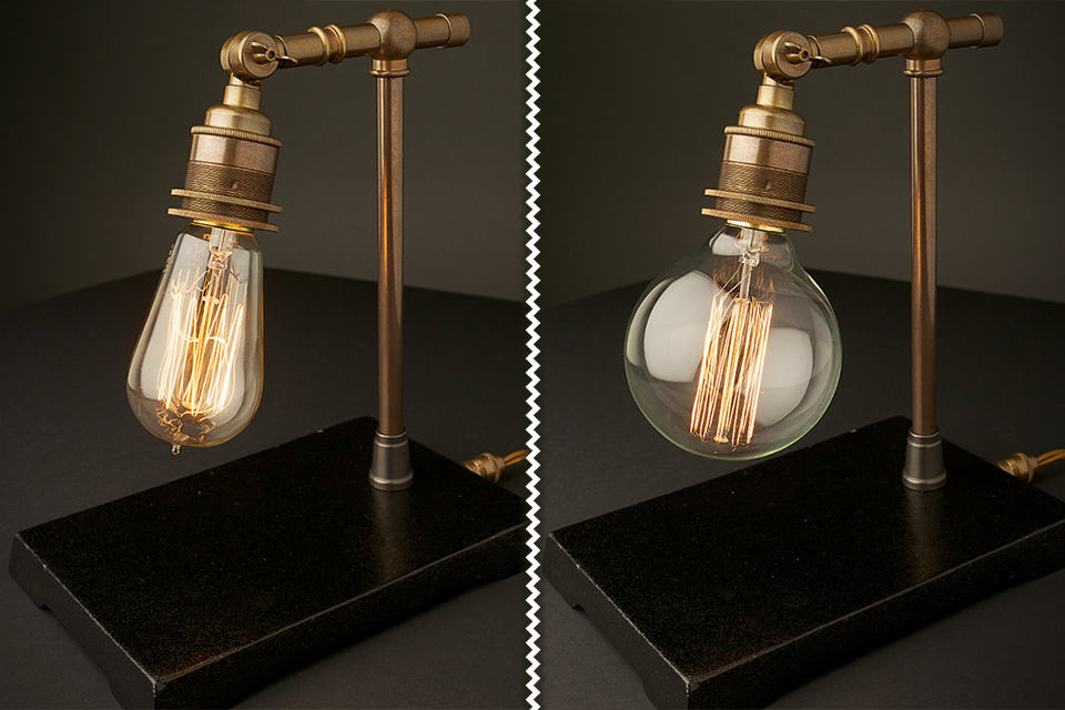 Vintage Industrial Brass Table Lamps
