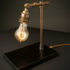 Vintage Industrial Brass Table Lamps - Standard Bulb