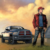 RAM Power Wagon Man of Steel Edition Poster
