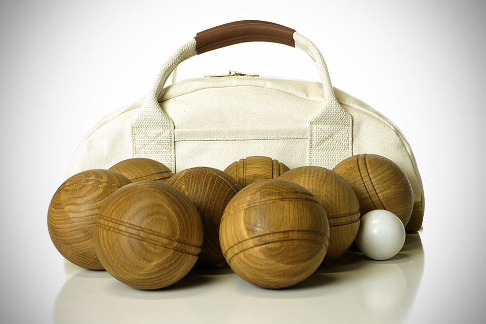 Avo Bocce: Hand-finished Oak Bocce Set