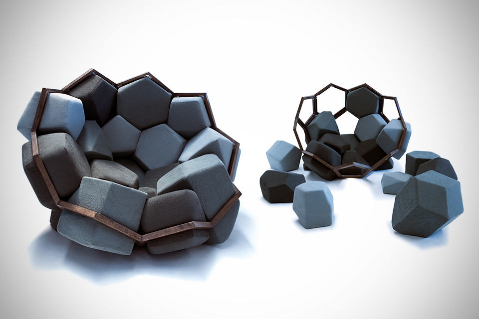 Quartz Armchair by CTRL ZAK & Davide Barzaghi
