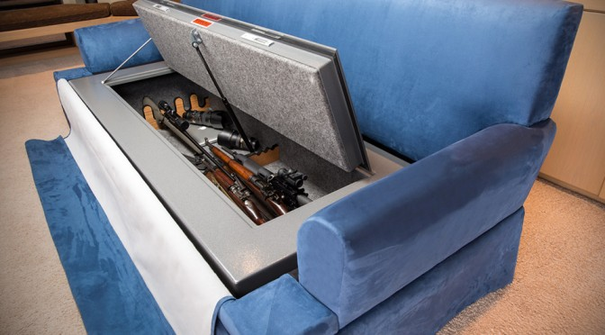 CouchBunker - Bulletproof Couch and Gun Safe