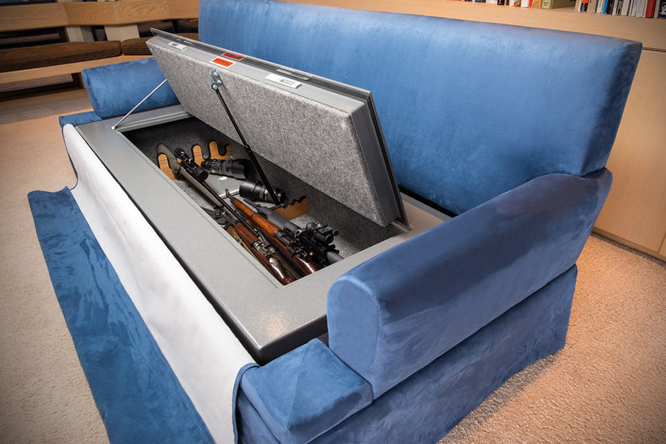 Couchbunker Bulletproof Couch And Gun Safe Mikeshouts