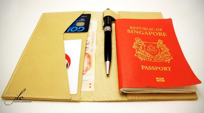 Jacob's Leather Passport Travel Wallet/Holder