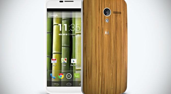 Motorola Moto X Smartphone in Bamboo