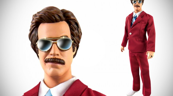 13-inch Talking Anchorman Ron Burgundy Action Figure